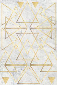 wire gOld triangle Art Print by Simona Sacchi   Society6
