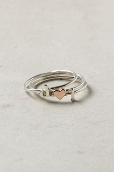 rose gold dainty heart ring + initials