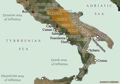 zones d'influence en italie antique