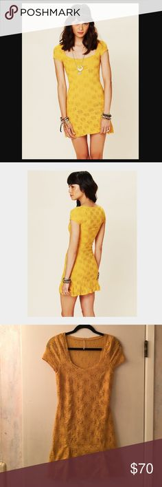 🌼 Free People Daisy Godet Dress Adorable mustard marigold yellow dress with a crocheted embroidered textured floral daisies pattern design throughout. Very lightly used, excellent condition 👌🏼 Has a retro look and feel to it. A very versatile dress that would be perfect for lots of different occasions! I am open to reasonable offers. Free People Dresses Mini
