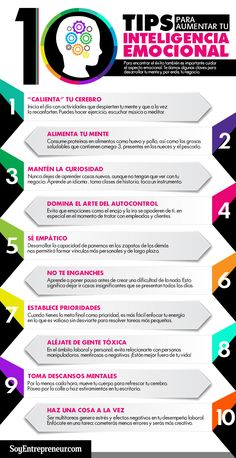 10 tips para aumentar tu inteligencia emocional #arteparaempresa #activate #sueña #emprendimiento #Marketing #motivacion