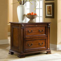 how to make metal filing cabinets look like wood   Riverside Serenato Cherry Lateral Filing Cabinet