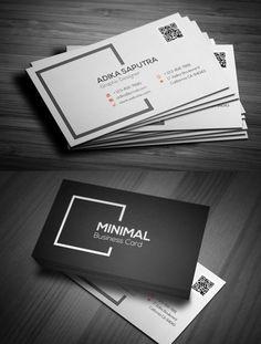 26 templates de tarjetas de presentacin minimal business card clean minimal business card accmission Choice Image