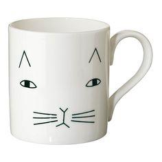 Donna Wilson Mug en céramique chat Blanc
