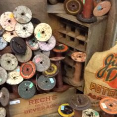 Spools from textile industry