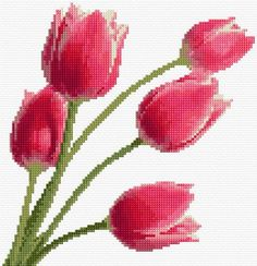 Cross Stitch | Tulips xstitch Chart | Design