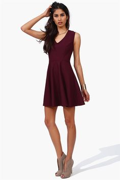 Good Girl Dress in Wine