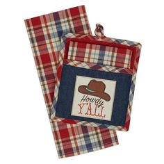 """Howdy Y'all"" Western Potholder Gift Set"