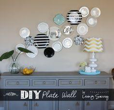 Living Savvy:  Modern Plate Wall