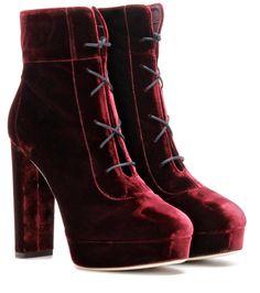 8/27/16 mytheresa.com - Deon 120 velvet ankle boots - Jimmy Choo
