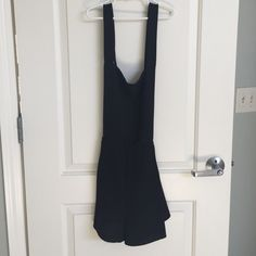 Black Overalls Urban I think these are super cute. no flaws, I just don't wear it enough. no size tag, but should fit many sizes (xs-M) no trades, no try one, don't ask lowest, I'll take private offers Urban Outfitters Dresses