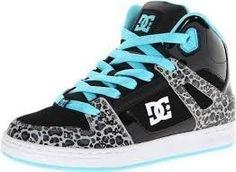 Zebra print, aqua, and black DC Shoes