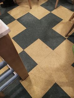 Great floor idea with super cheap materials.