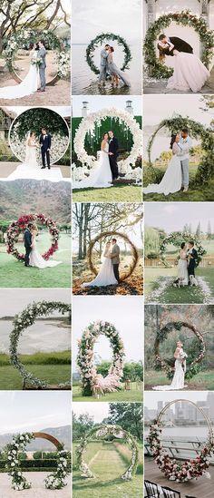 circular wedding arches for 2019 trends Pagan Wedding, Wedding Groom, Wedding Pics, Wedding Trends, Wedding Designs, Fall Wedding, Wedding Bells, Rustic Wedding, Wedding Venues