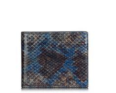 snakeskin bi-fold wallet