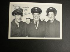 """SIGNED PHOTO ACTOR JOE BESSER-MEMBER OF """"THE THREE STOOGES"""" WITH LARRY & MOE…"""