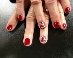 OU themed nails