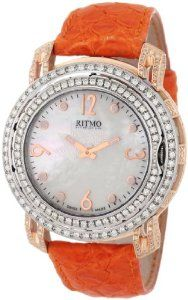Only 1 left Ritmo Mundo Women's D203/2 SS RG Diamond Persepolis Dual-Time Orbital Case Quartz Watch