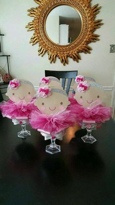 5 Ballerina centerpieces baby shower by fourDOLLYSboutique on Etsy Ballerina Baby Showers, Ballerina Party, Baby Shower Princess, First Birthday Centerpieces, Baby Shower Centerpieces, Baby Shower Decorations, Baby Shower Cakes, Baby Shower Parties, Baby Shower Themes
