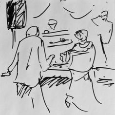 Cute older couple #dancing, #Sketches from the #jazz jam - pen and ink #sketching - http://www.redbubble.com/people/bartcastle/shop #illustration #art #originalart  #artist #lifedrawing #quicksketch #musicartist #saxophone #funky #jazzy #tressas #ashevillemusic #asheville #inktober #smooth