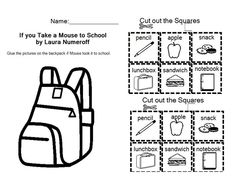 Worksheet If You Take A Mouse To School Worksheets retelling the ojays and mice on pinterest if you take a mouse to school