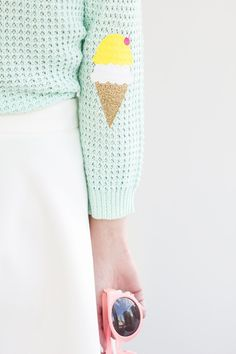 DIY Ice Cream Cone Elbow Patches | Studio DIY®