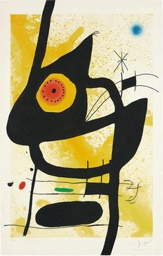 La Femme Des Sables Artwork By Joan Miró Hand-painted And Art Prints On Canvas For Sale,you Can Custom The Size And Frame Joan Miro Pinturas, Art Conceptual, Joan Miro Paintings, Motif Art Deco, Spanish Art, Hieronymus Bosch, Spanish Painters, Jackson Pollock, Salvador Dali