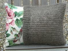 Hand Knitted Pocket Cushion