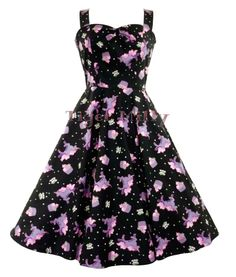 HELL BUNNY 50's MYSTICAL unicorn cupcake DRESS BLACK   eBay