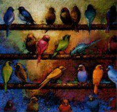 Social Hour-soft pastel by artist, Liz Kenyon Chalk Pastels, Soft Pastels, Pastel Drawing, Art For Art Sake, Bird Art, Contemporary Artists, Painting Inspiration, New Art, Art Projects