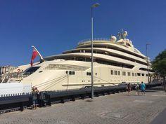 Dilbar yacht Barcelona #privateyacht