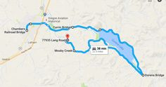 Here's one option for the route. The journey should only take around 40 minutes of driving time.