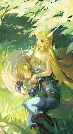Ben Drowned, Zelda Breath, Twilight Princess, Breath Of The Wild, Couple Posing, Legend Of Zelda, Cute Drawings, Elves, Creepypasta