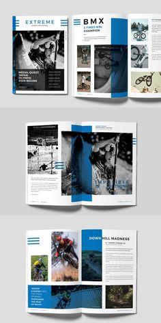 InDesign Sports Magazine Template - My Original Ideas Editorial Layout, Editorial Design, Dossier Sponsoring, Fotografie Branding, Sport Videos, What Is Fashion Designing, Magazine Layout Design, Magazine Cover Layout, Magazine Design Inspiration
