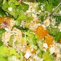 Pina Colada Chicken Salad Recipe -I used less oil. Doesn't need that much. It makes a ton of dressing. We don't dump everything together but make it like Zupas does... Mix lettuce with dressing then let everyone add their own toppings. -mm