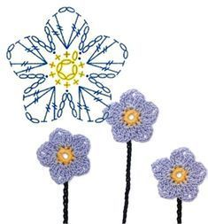 No.15 Flax Crochet Flower Motifs / 플랙스 코바늘 플라워 모티브도안 #CrochetEaster