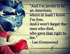 Never forget, freedom is never free!
