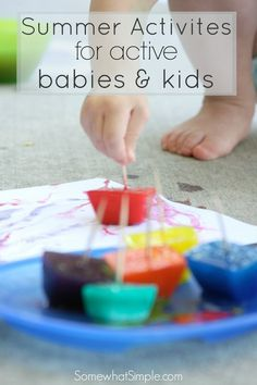 Ice Pop Paints & Summer Activities - Somewhat Simple
