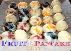 {Toddler Approved} Fruit & Pancake Bites