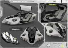 Honda Fuzo Concept, John Mahieddine, Futuristic Concept, Futurism, Flying Car