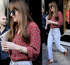 Dakota leaving her hotel in paris july 19th 2016