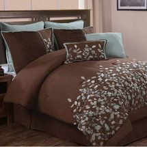 Walmart: Luxury Home Jardin 8 Piece Comforter Set  Love this!!!!!!