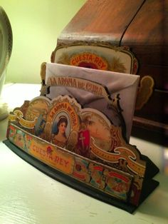 Cigar Box Letter Holder/Sculpture by SomethingAmiss on Etsy, $25.00