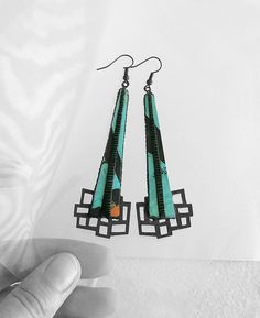 Designer earrings contemporary modern jewelry design by DeUno