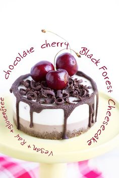 AMAZING Vegan CHOCOLATE CHERRY CHEESECAKE // Black Forest Cheesecake // #glutenfree RAW and…