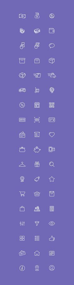 Free 54 E-Commerce Icons. Check out this great set of e-commerce icons designed and released by Virgil Pana. Hobbies To Try, Hobbies That Make Money, Web Design, Icon Design, Store Icon, Web Inspiration, Icon Set, Box Icon, Icon Pack
