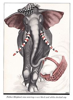 He had used the tusk-paint that Little Elephant had given him | by katinthecupboard