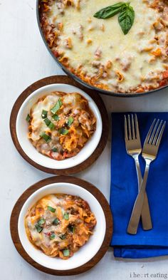 A 30-Minute Lasagna (No, Really) || Kate Dean, who writes the blog I Heart Eating, created this one-skillet recipe for nights when her main goal is: Get dinner on the table. Fast.