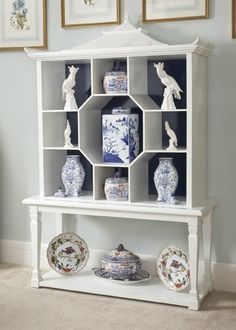 pagoda cabinet for my blue and white collection