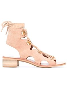 Shop See By Chloé lace-up sandals .